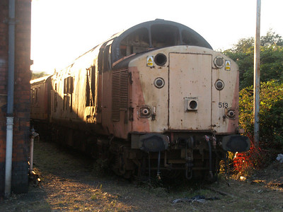 Stored 37503 at the side of the Factory.