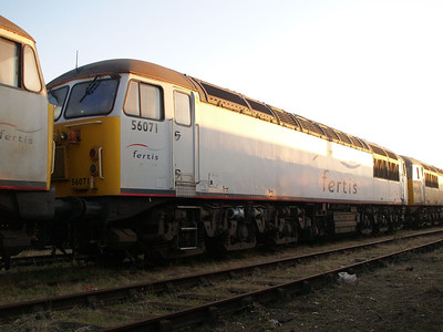 Stored 56071 in the carriage sidings.