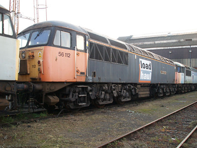 Stored 56112 out the front of the Factory.