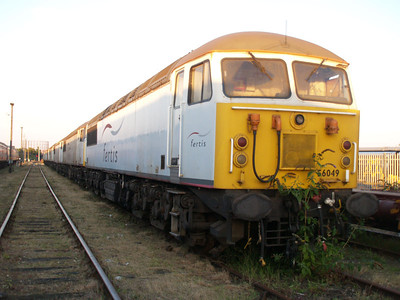Stored 56049 in the carriage sidings.