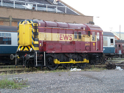 Resident shunter 08879 in the carriage sidings.