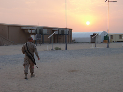 Sunset outside Baghdad