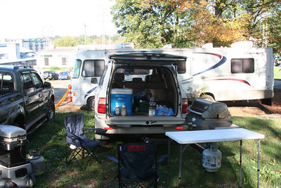 Cooke\'s tailgating rig.