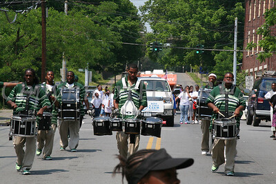 54 Regiment Marching Ensemble march in the City of Newburgh Youth Pride Parade.