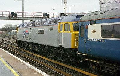 Having just been named 'Captain Sensible' at Hove, Cotswold Rail's 47810 is pictured at Brighton with the empty stock off 1Z27 0730 Heartland Rail charter from Gloucester. Note the stock, which had changed ownership during the preceding couple of weeks (1