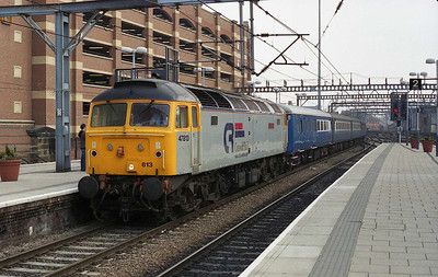 47813 'John Peel' arrives at Leeds with Steamy Affairs' 1Z67 0608 charter from St Albans to Keighley (31/03/2007)