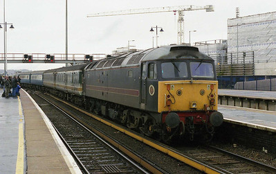 Another view of 47703 as '810 departs Brighton with the empty stock for Lovers' Walk (10/02/2007)
