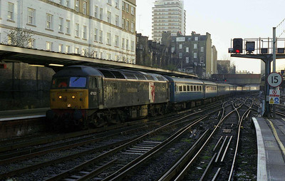 47832 'Driver Tom Clark OBE' arrives at London Victoria with 5Z87 empty stock from East Ham for a 'Blue Pullman' charter (27/01/2007)
