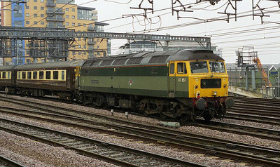 47851 'Traction Magazine' brings up the rear of 5Z26 as the train passes through Leeds station (22/06/2007)