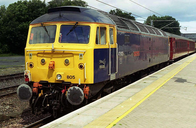 47805 'Talisman' is pictured on the rear of NENTA's 1Z20 0519 charter from North Walsham on arrival at Berwick-upon-Tweed. 47853 had hauled the train from Ely (14/07/2007)