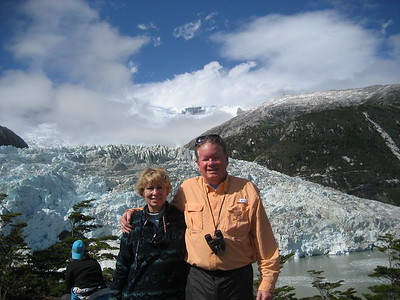 Nanne and Allen at Perito Morelli Glacier -- Mary Jeffcoat