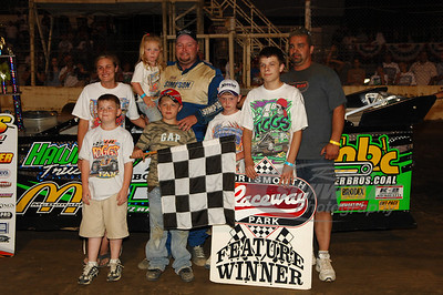 Jackie Boggs with family and crew
