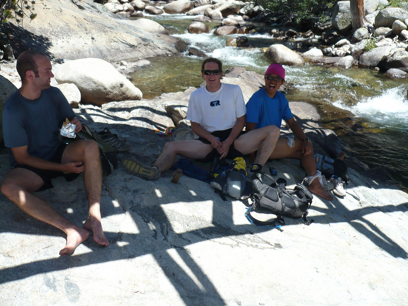 Lunch under the bridge, @ the John Muir Trail (JMT)