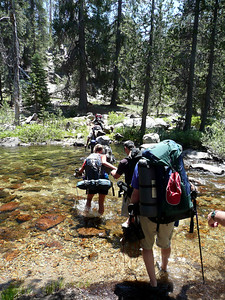 1st creek crossing of Yosemite Creek after lunch.