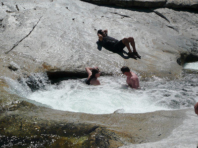 With the low water conditions we had Jacuzi tubs in Yosemite Creek