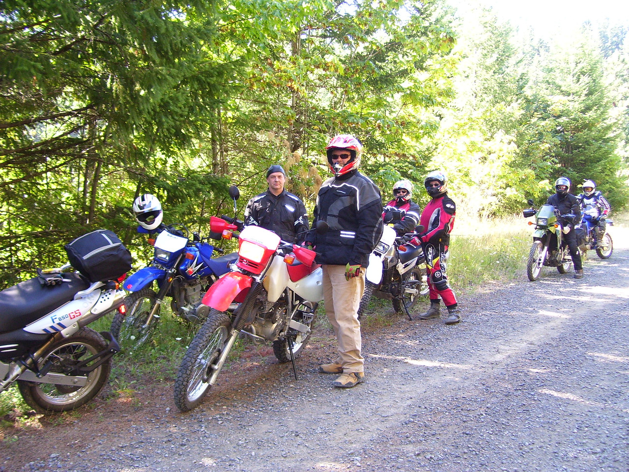 A few days later we went to the Dual Sport Rally at the Gorge. This is Mondays ride to Red Mt. and Trout Lake, 137 miles.