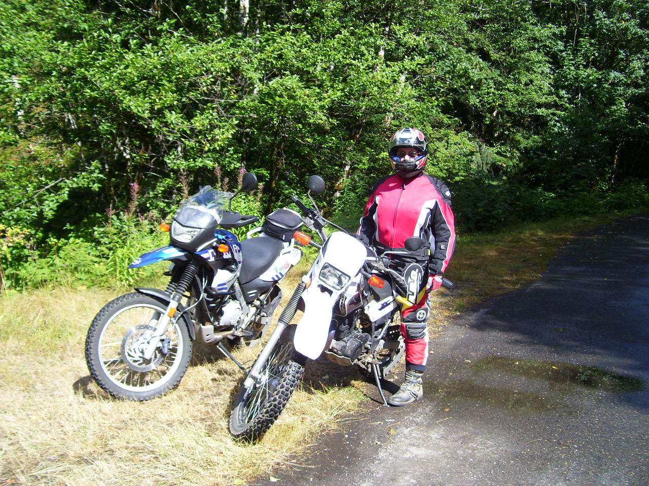 Riding the #23 road in GPNF.