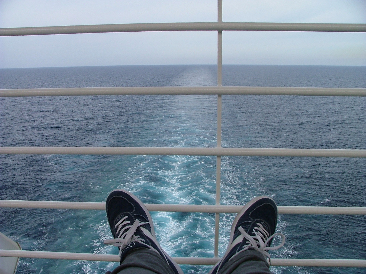 This was one of my favorite places, just chillin' on the back of the ship.
