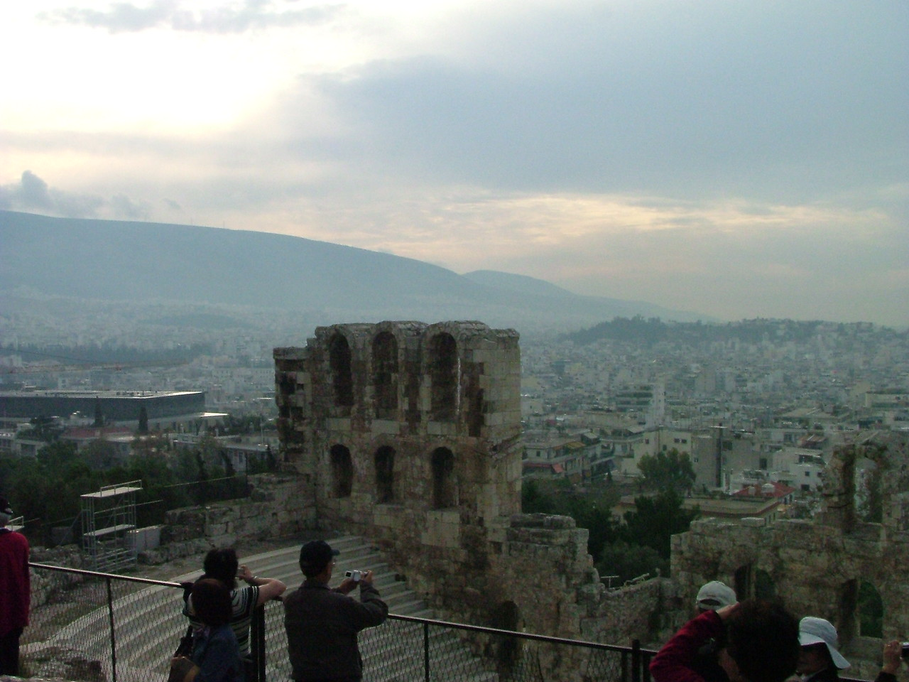 Stadium at the Acropolis where concerts and things like that are held