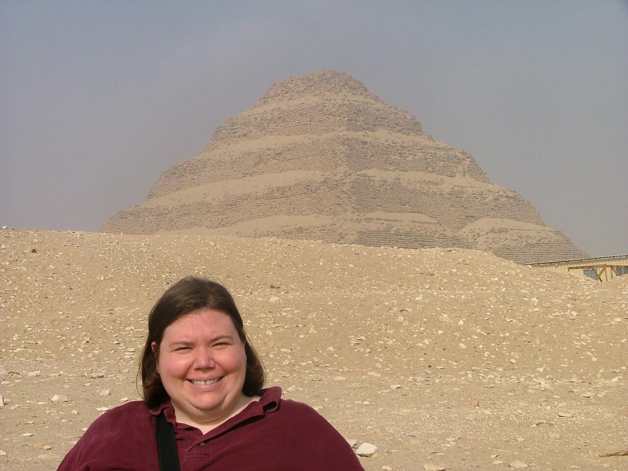 Step Pyramid of Sakkara (the sun was very, very bright).