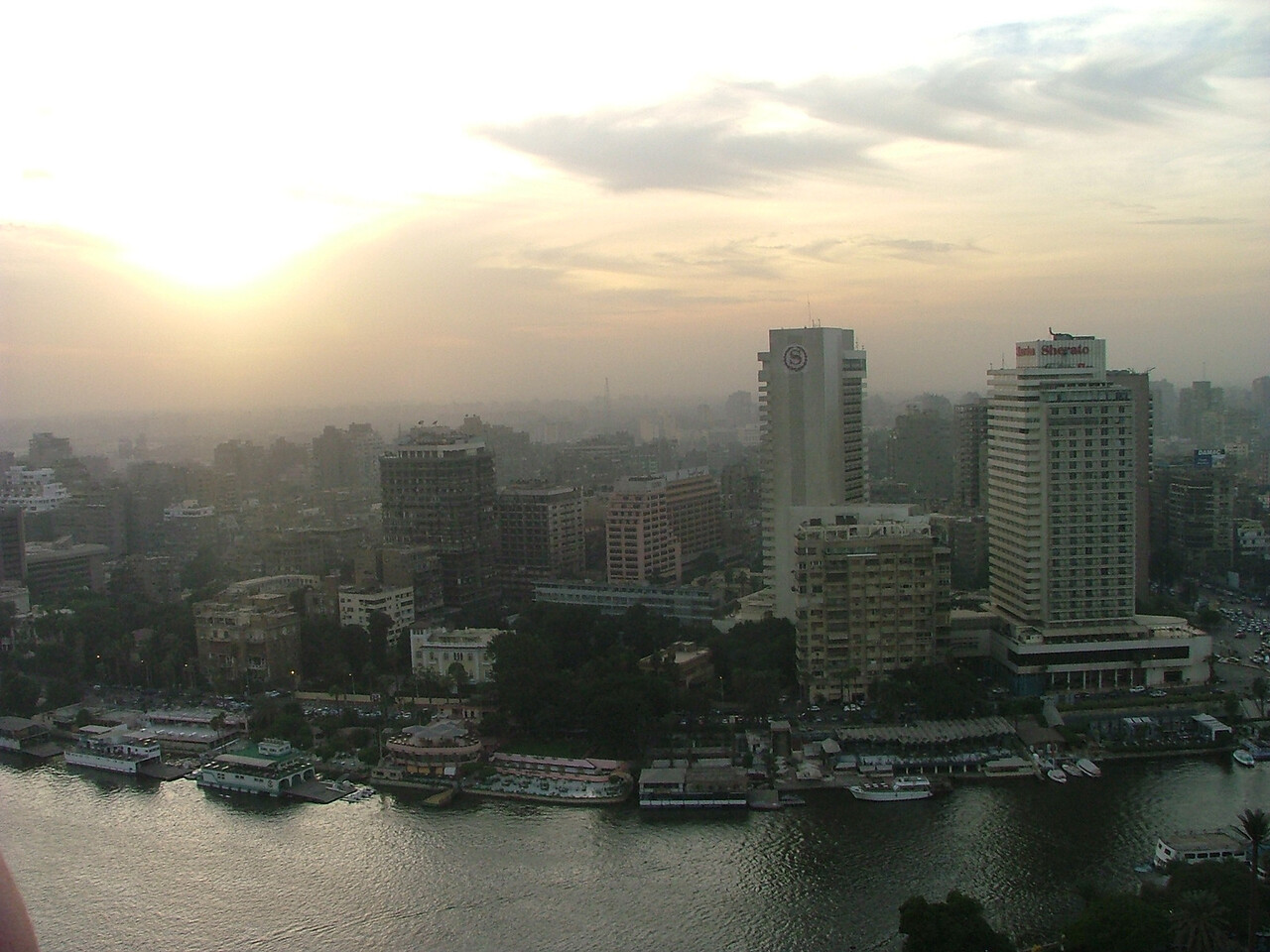 The view of Cairo from our hotel balcony.  That's the Nile.