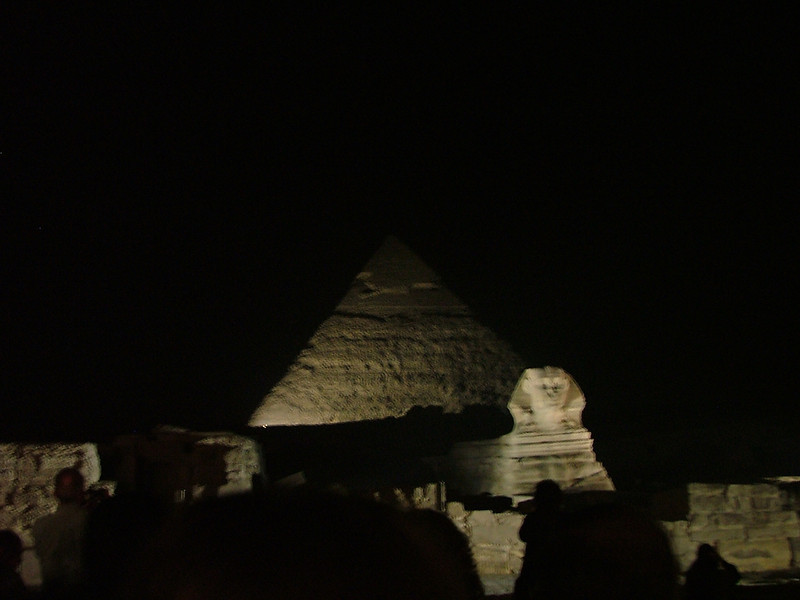 It's blurry, but it's my first picture of a pyramid and the Sphinx, so it stays.