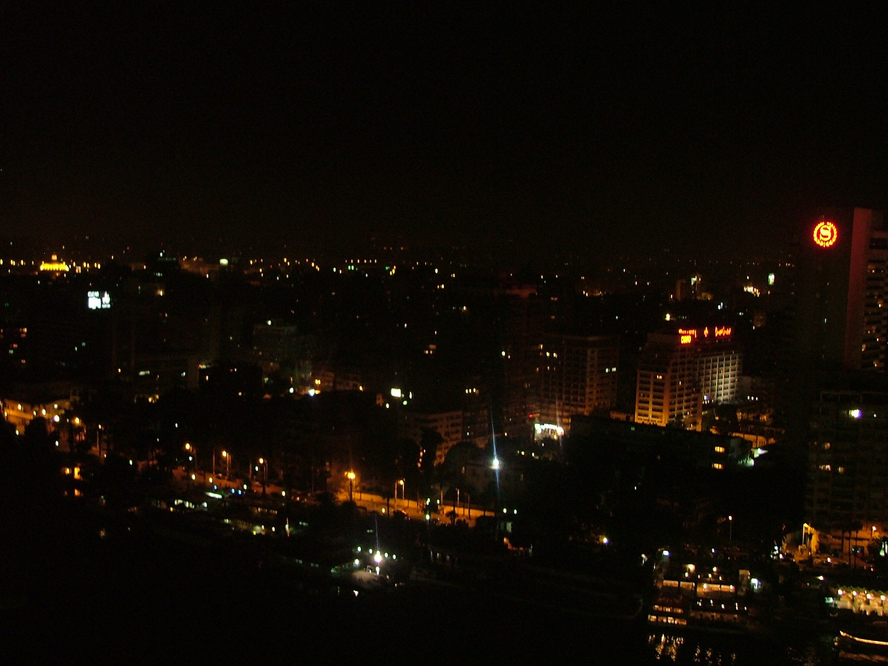 The view of Cairo from our hotel balcony.