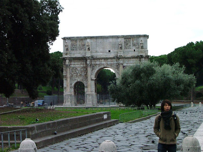 Arch of Constantine, outside Colosseum.
