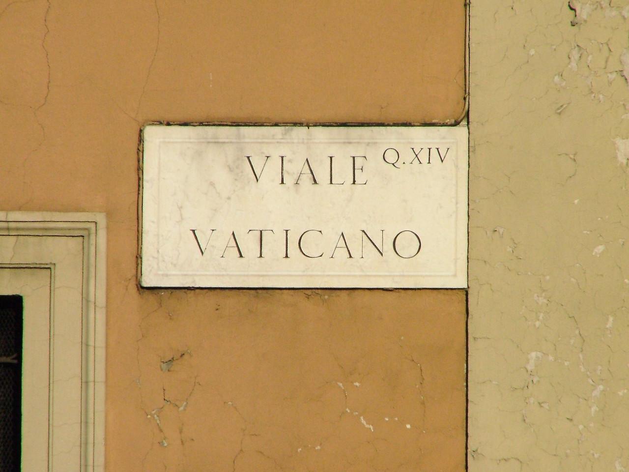 Vatican Avenue.