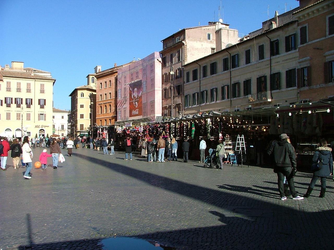 At Piazza Navona.  A Christmas bazaar.