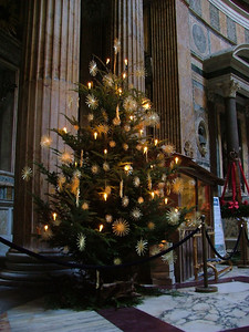 Christmas tree in the Pantheon