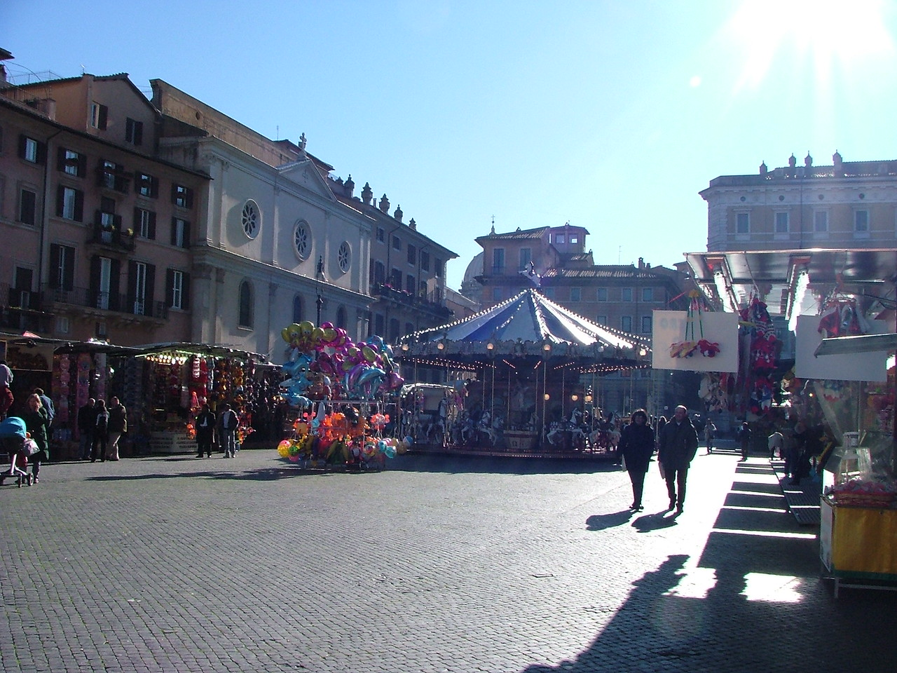 At Piazza Navona.  A Christmas bazaar.