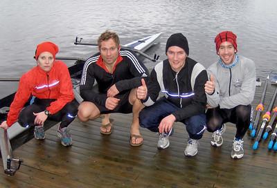 Vinnere av romjulsregattaen: Janne, Steffen, Arne og Are