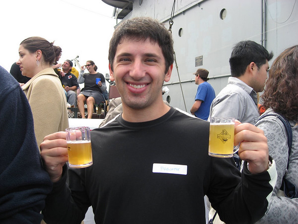 Double fisting at Brewfest.