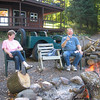 BACK AT THE SHACK AROUND THE FIRE...PAT & STEVE GILFOY