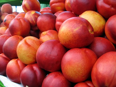 Nectarines at Vlaho's Fruit Orchard on Pier 39