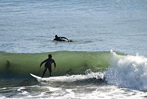 A couple days earlier, the waves at West Cliff, Santa Cruz were 60-70 feet tall!
