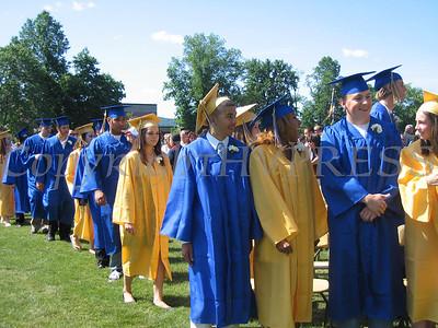 Graduates entering the graduation