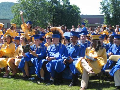 Graduates after receiving diplomas