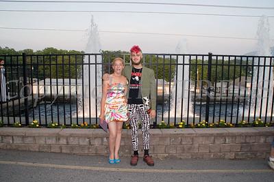 Theresa Valdina and Jordan Davis pose for a picture