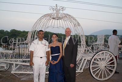 Dennis Figueroa, Natalie Serrano and Principal Peter Copeletti