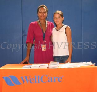 WellCare Representative Najiyyah Bowman with Crystal Cruz