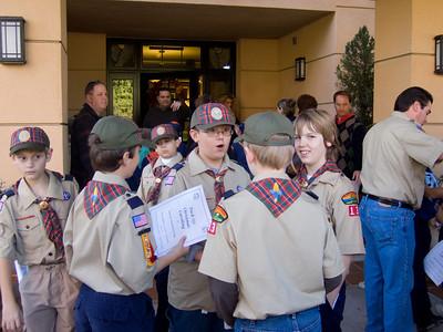 Scouts Caroling
