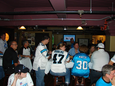 What a planeload of Panthers fans look like