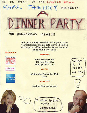Fame Theory Presents A Dinner Party For Dangerous Ideas