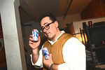 Christopher London with Pabst Blue Ribbon