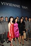 Bebe Neuwirth, Vivienne Tam, Susan Shin and Vivienne Tam models
