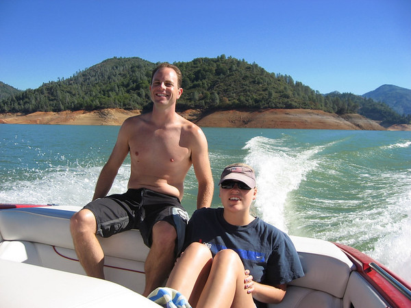 A^2: Alicia and Alan while Aaron drives the boat back to the dock.