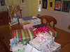 the gifts - and check out the fun pics of Sibyl on the wall