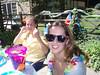 Cheryl & Sibyl put on their beach stuff